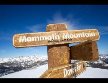 Mammoth Mountain directional sign