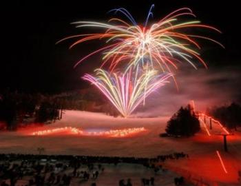 Fireworks on Mammoth Mountain