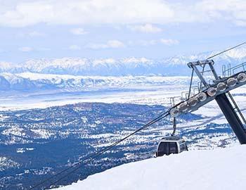The gondola at Mammoth Mountain
