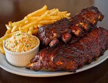 Ribs and french fries from Slocums