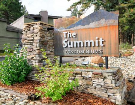 Outside of The Summit Condominiums in Mammoth