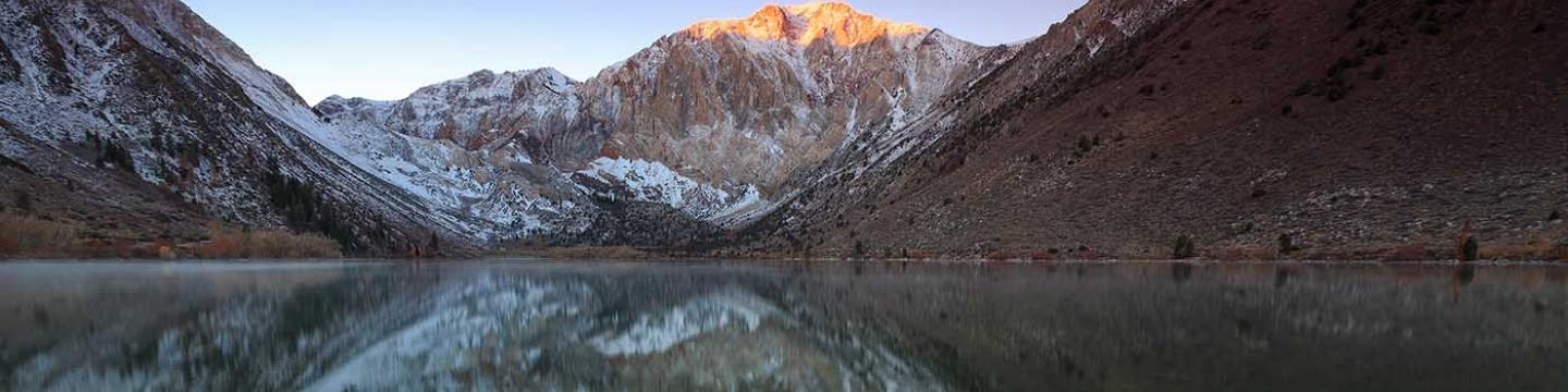 Reflection in the water at Convict Lake in Mammoth
