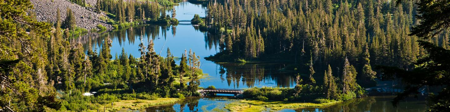 Ariel view of Mammoth Lakes, CA