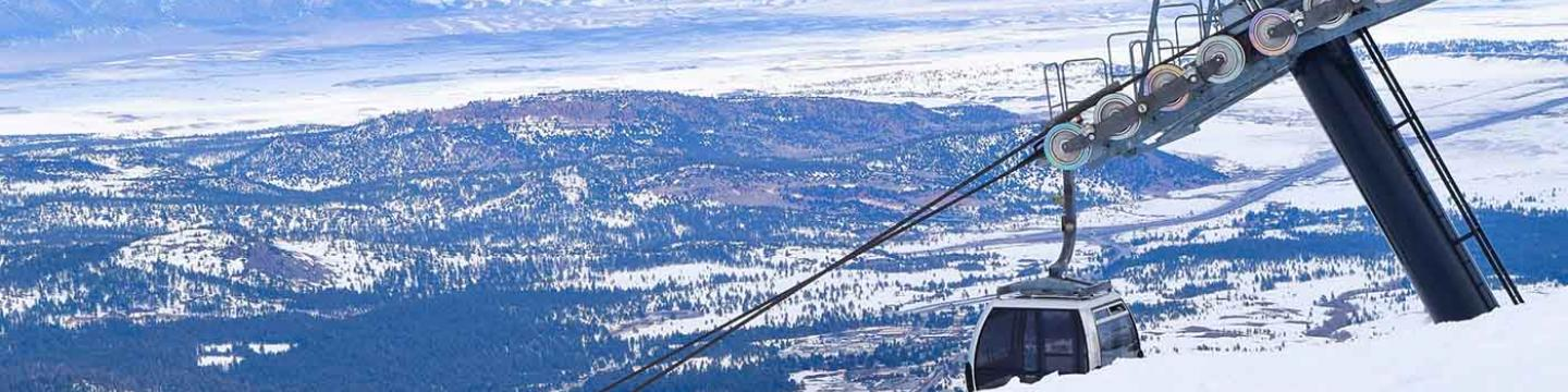 The gondola at Mammoth Mountain