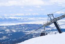 Gondola chairlift at Mammoth Mountain
