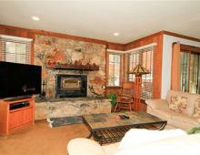 Interior of a two bedroom Mammoth Mountain rental