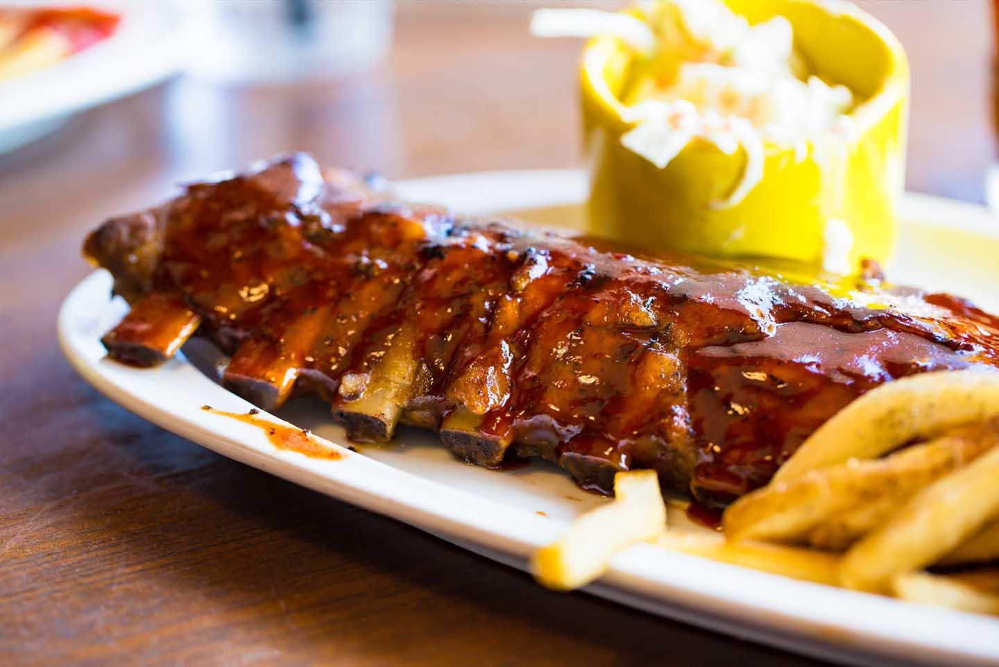BBQ pork ribs & french fries