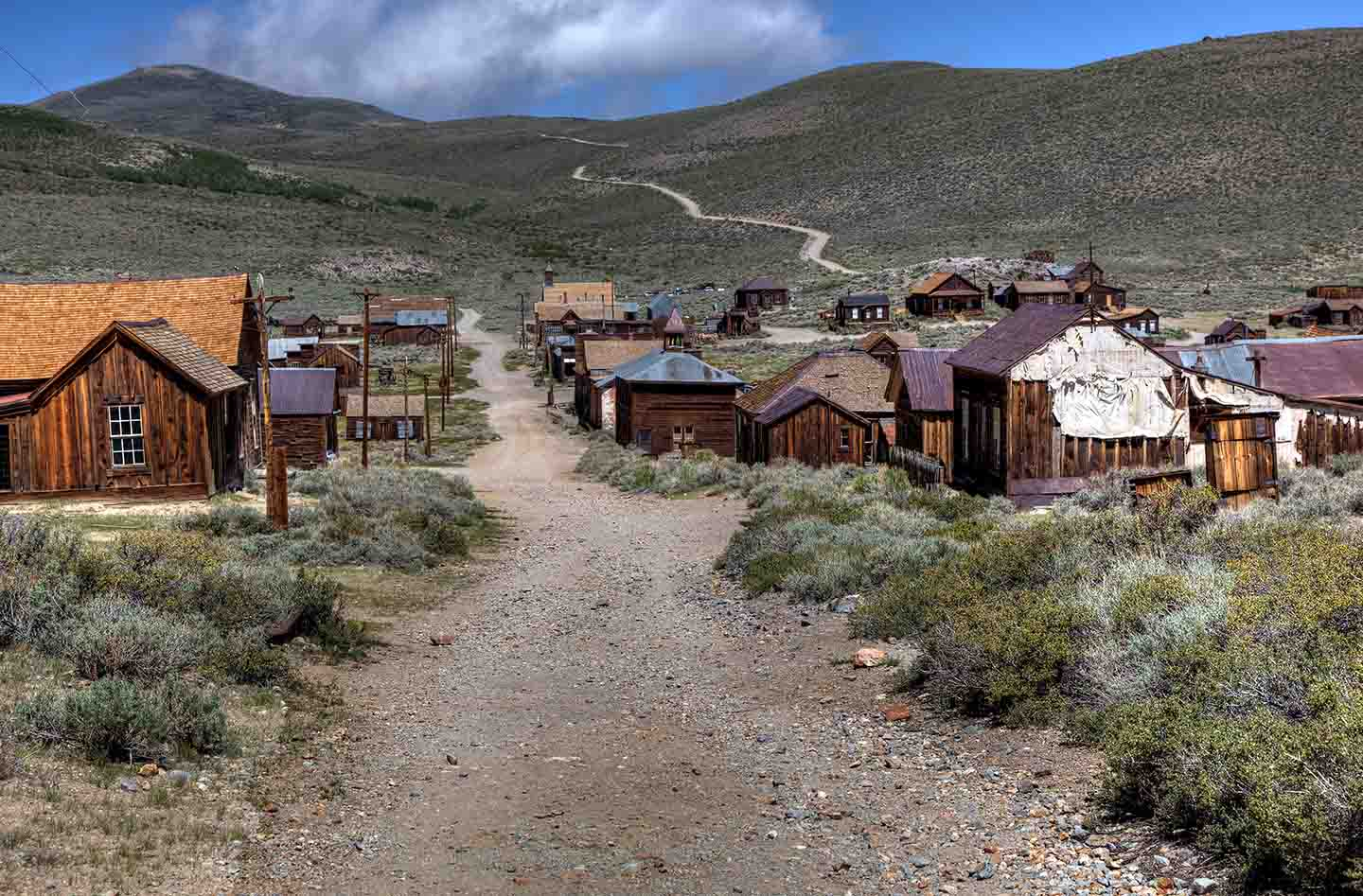Abandoned buildings at Bodie State Historic Park