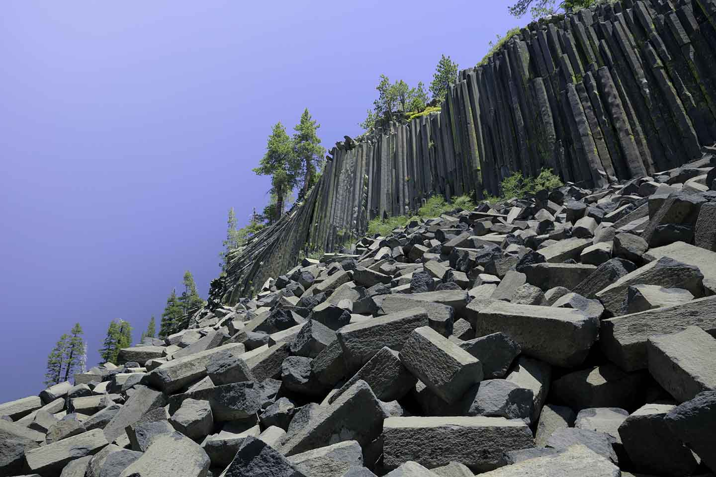 Basalt columns at Devils Postpile National Monument