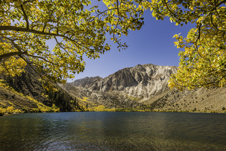 A view of Convict Lake in California