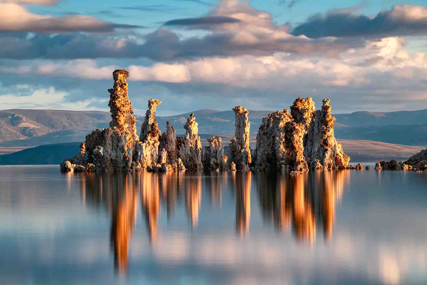 Limestone Tufa Towers at Mono Lake in California