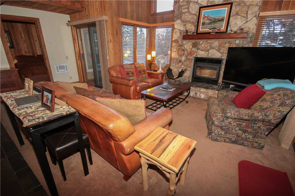 Interior living room at a Mammoth Mountain Back rental
