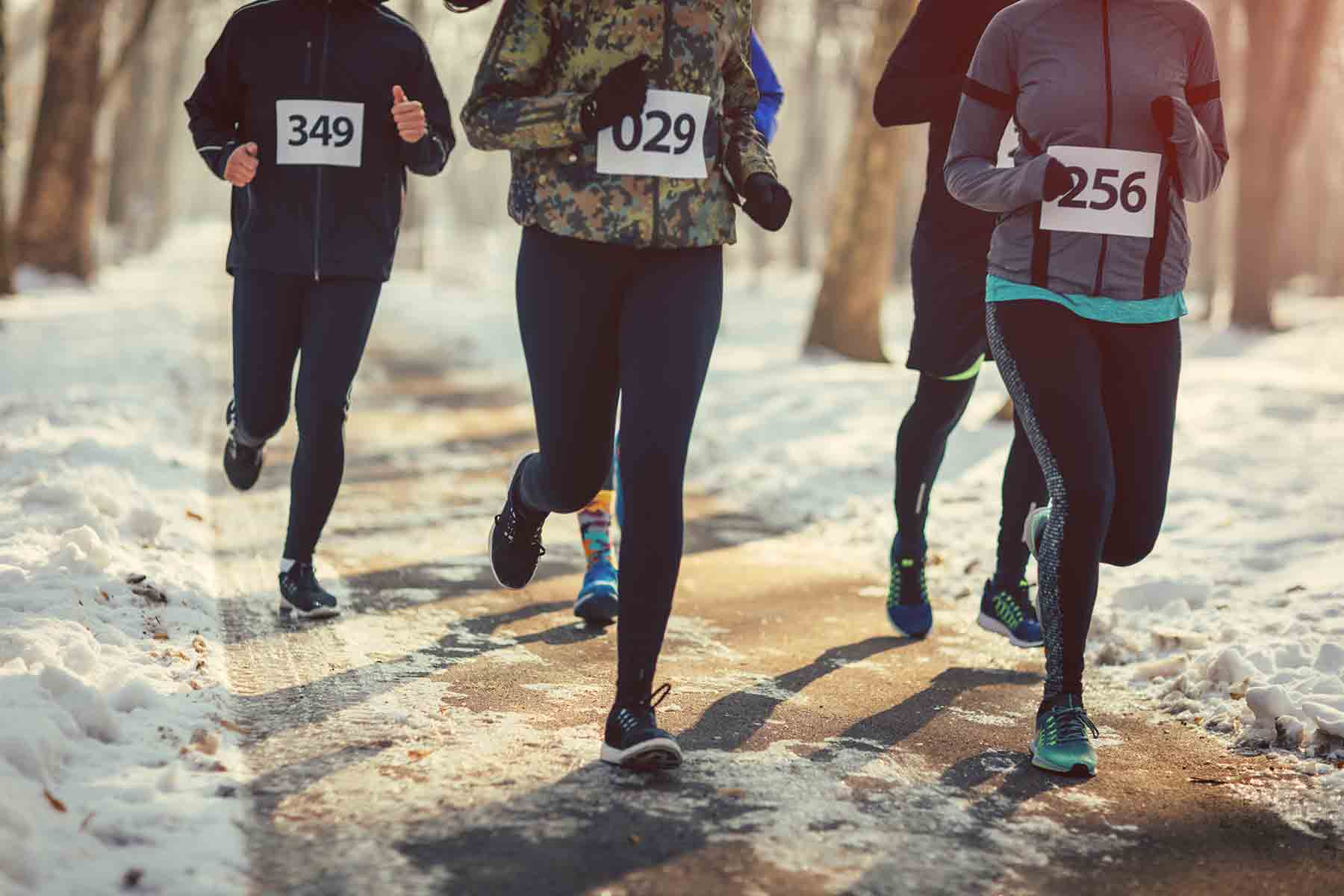 Runners competing in the Mammoth Turkey Trot