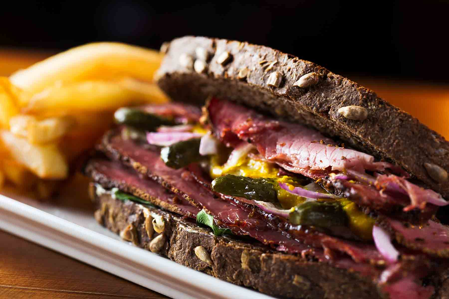 Reuben Sandwich with french fries
